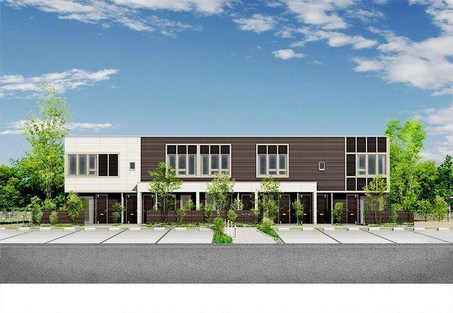 (仮称)S様賃貸アパート新築工事の外観