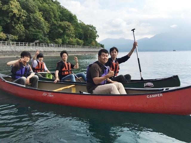 阿波座店メンバーで北海道・支笏湖カヌー